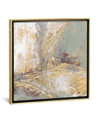 "Gilded Circuit Ii by Jennifer Goldberger Gallery-Wrapped Canvas Print - 26"" x 26"" x 0.75"""