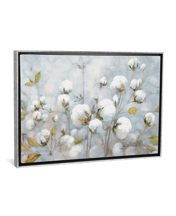 "iCanvas Cotton Field in Blue Gray by Julia Purinton Gallery-Wrapped Canvas Print - 26"" x 40"" x 0.75"""