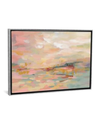 "Pink Waves by Silvia Vassileva Gallery-Wrapped Canvas Print - 18"" x 26"" x 0.75"""