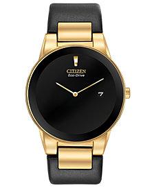 Citizen Eco-Drive Men's Axiom Black Leather Strap Watch 40mm