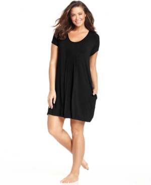 DKNY Plus Size Seven Easy Pieces Short Sleeve Sleepshirt