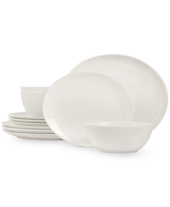 Hotel Collection - Modern Oval 12-Pc. Dinnerware Set, Service for 4