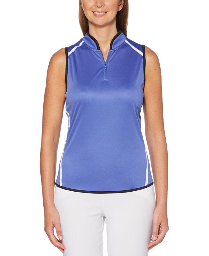 PGA TOUR - Colorblocked Sleeveless Golf Polo Shirt
