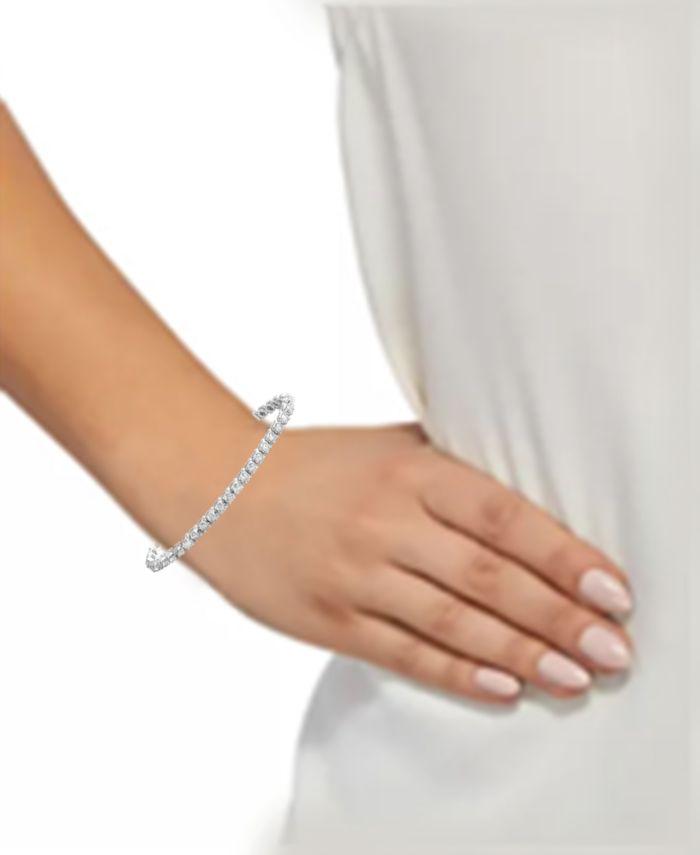 Macy's Diamond Tennis Bracelet (5 ct. t.w.) in 14k White Gold & Reviews - Bracelets - Jewelry & Watches - Macy's