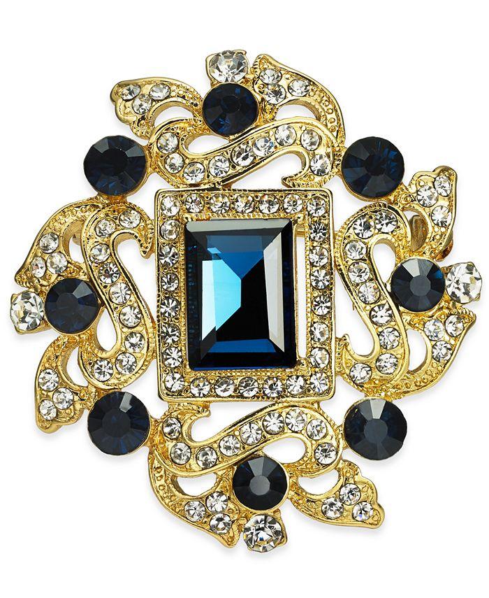 Charter Club - Gold-Tone Crystal Pin
