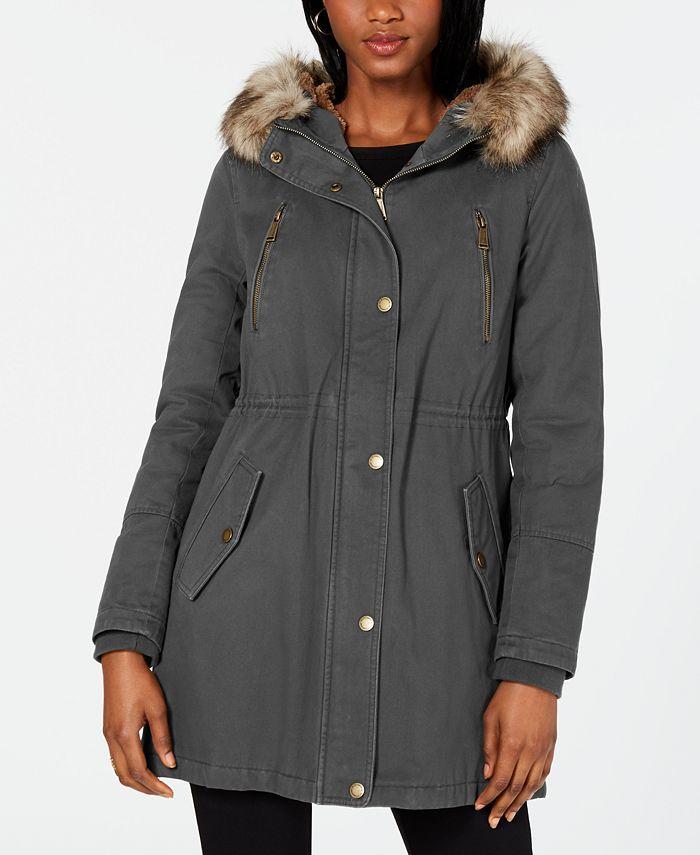 BCBGeneration - Hooded Faux-Fur-Trim Anorak