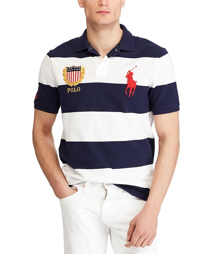 Polo Ralph Lauren Men's Big Pony Crest Mesh Polo Shirt & Reviews ...