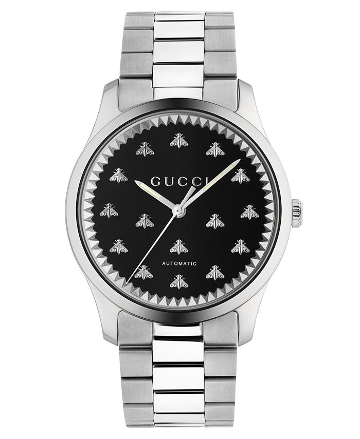 Gucci - Men's Swiss Automatic G-Timeless Stainless Steel Bracelet Watch 42mm