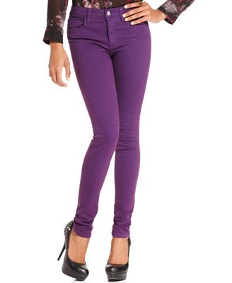 Joeu0026#39;s Jeans Skinny Jeans Purple-Wash Colored-Denim - Jeans - Women - Macyu0026#39;s