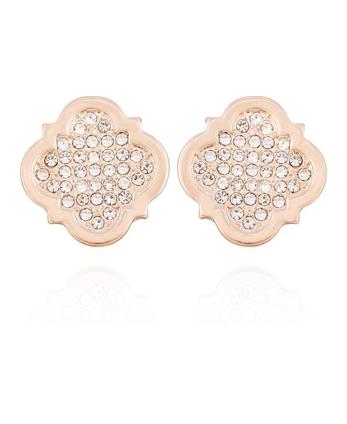 T Tahari - Moroccan Metals Clip Button Earrings