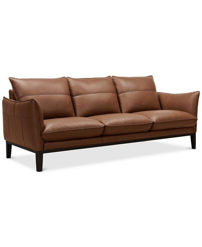 """Furniture - Chanute 88"""" Leather Sofa"""