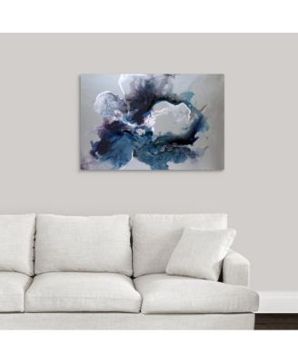 'Cerulean waters' Framed Canvas Wall Art, 36