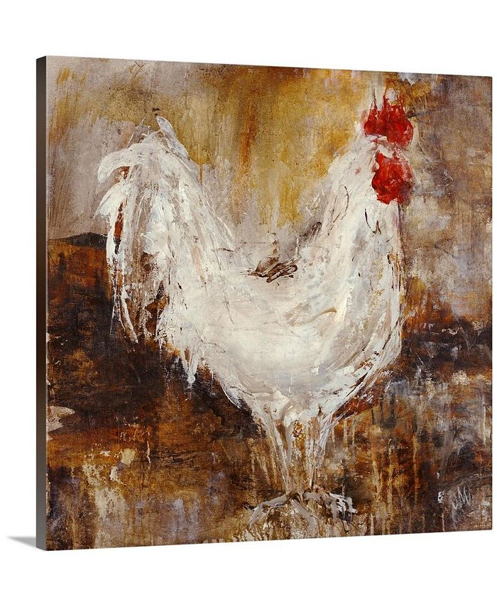 "GreatBigCanvas - 36 in. x 36 in. ""backyard Guest I"" by  Jodi Maas Canvas Wall Art"