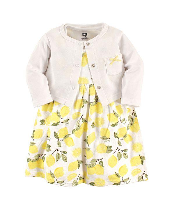 Hudson Baby Dress and Cardigan Set, Lemons, 2 Toddler