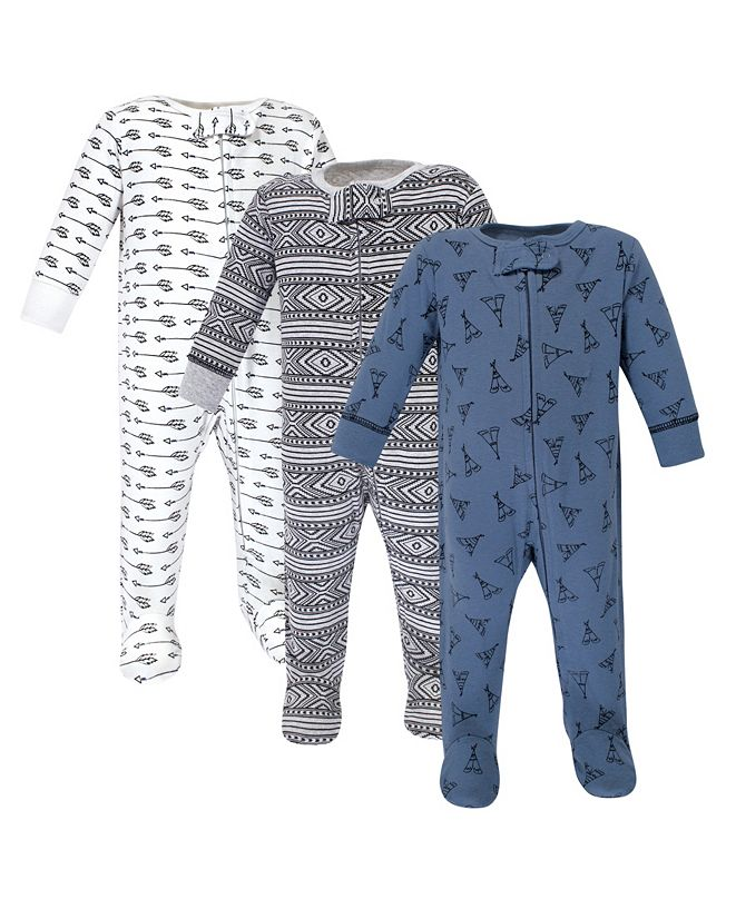 Yoga Sprout Zipper Sleep N Play, Teepee, 3 Pack, Preemie