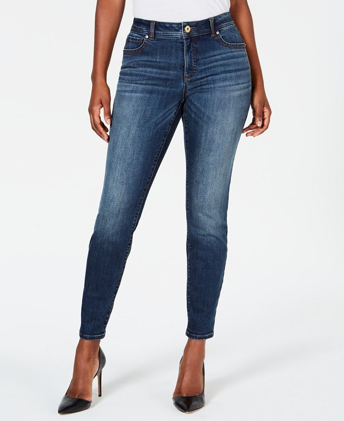 INC International Concepts - INCEssential Curvy-Fit Skinny Jeans