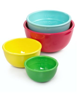 Martha Stewart Collection Nested Melamine Prep Bowls, 4 Piece Set