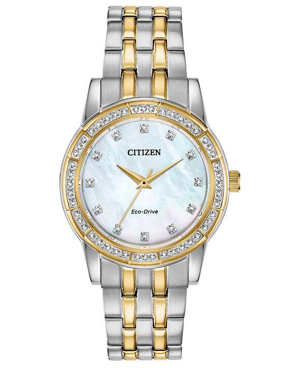 Citizen Eco-Drive Women's Silhouette Two-Tone Stainless Steel Bracelet Watch 31mm
