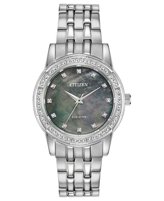Citizen - Women's Silhouette Stainless Steel Bracelet Watch 31mm