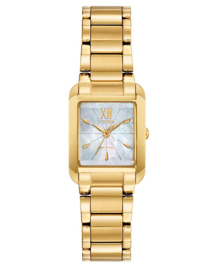 Citizen - Women's Bianca Gold-Tone Stainless Steel Bracelet Watch 22mm