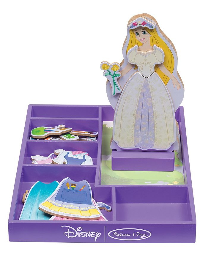 Melissa and Doug - Rapunzel Wooden Magnetic Dress-Up