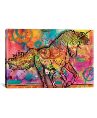 """Unicorn by Dean Russo Wrapped Canvas Print - 40"""" x 60"""""""