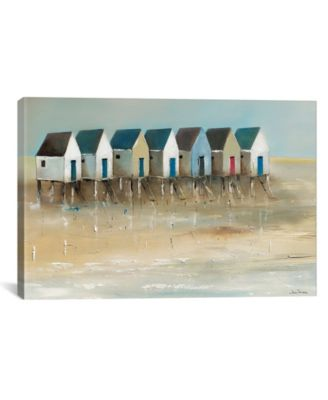 "Beach Cabins I by Jean Jauneau Wrapped Canvas Print - 18"" x 26"""
