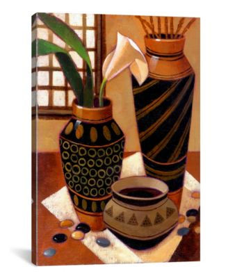 "Still Life With African Bowl by Keith Mallett Wrapped Canvas Print - 26"" x 18"""