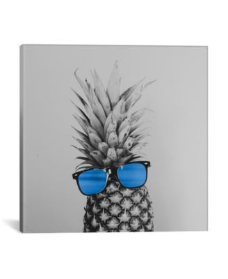 """Mr. Pineapple Ii by Chelsea Victoria Wrapped Canvas Print - 26"""" x 26"""""""