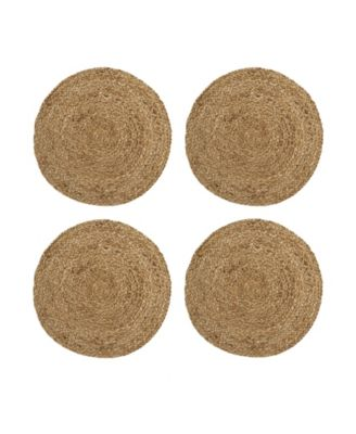 Everyday Casual Braided Jute Round Placemat - Set of 4
