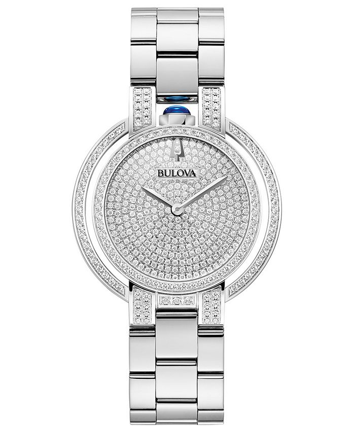 Bulova - Women's Rubaiyat Diamond (2 1/4 ct. t.w.)  Stainless Steel Bracelet Watch 35mm