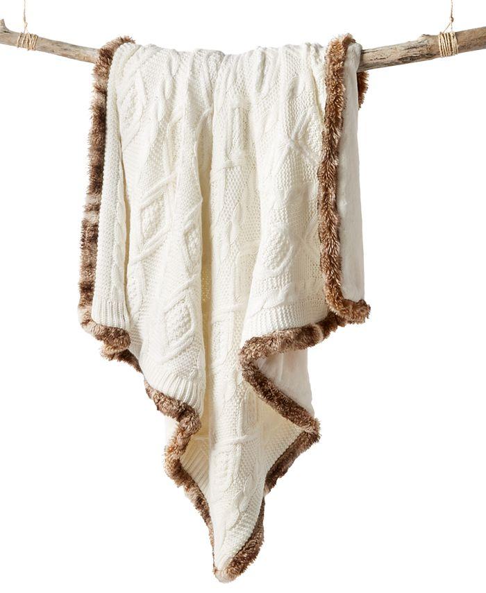 Martha Stewart Collection - Sweater Knit Fur Throw
