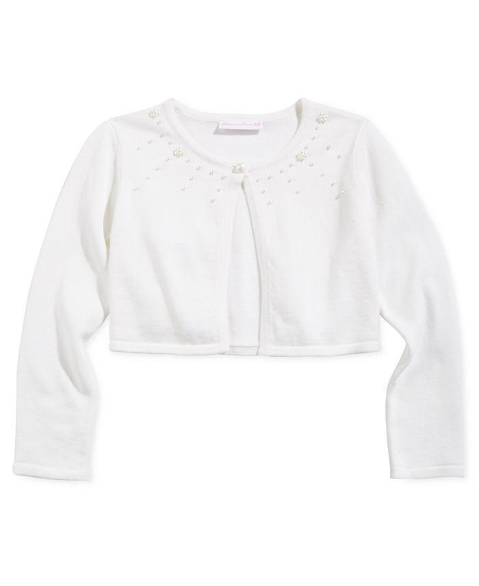 Bonnie Jean - Big Girls Cotton Embellished Cardigan