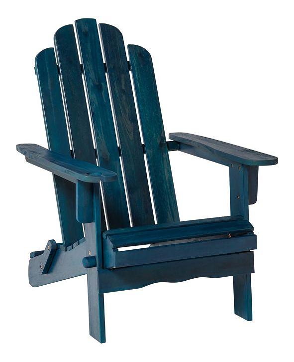 Walker Edison Patio Wood Adirondack Chair