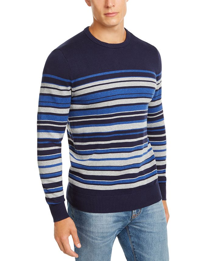 Club Room - Men's Regular-Fit Stripe Sweater