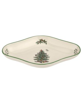 Christmas Tree Diamond Shaped Dish