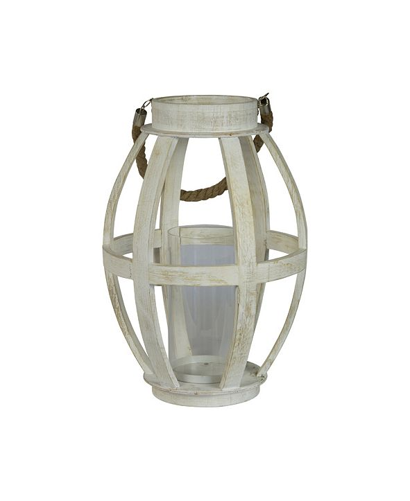 VIP Home & Garden Wood Oval Candle Holder