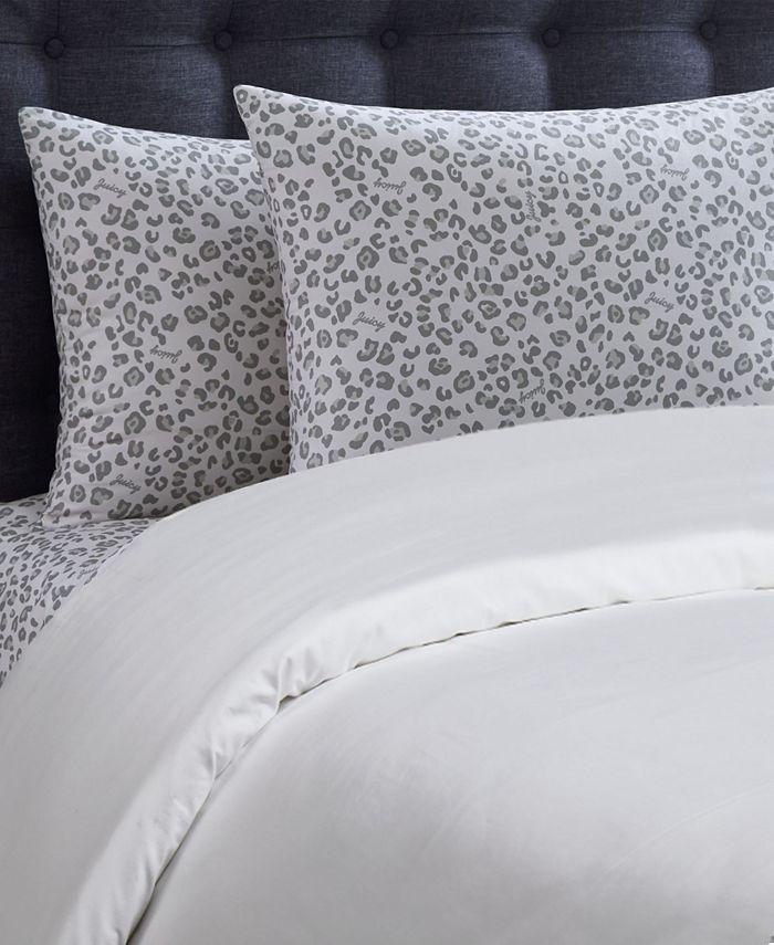 Juicy Couture - Silver Leopard 3-Piece Twin Microfiber Sheet Set