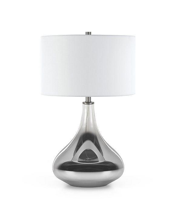 Hudson & Canal Mirabella Table Lamp In Smoked Chrome Ombre