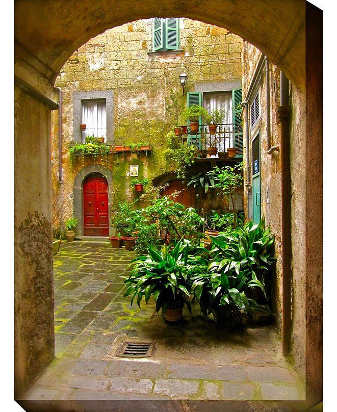 """West of the Wind Italian Courtyard Indoor/Outdoor Art, 30"""" x 40"""""""