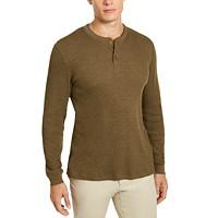 Club Room Men's Thermal Henley Shirt