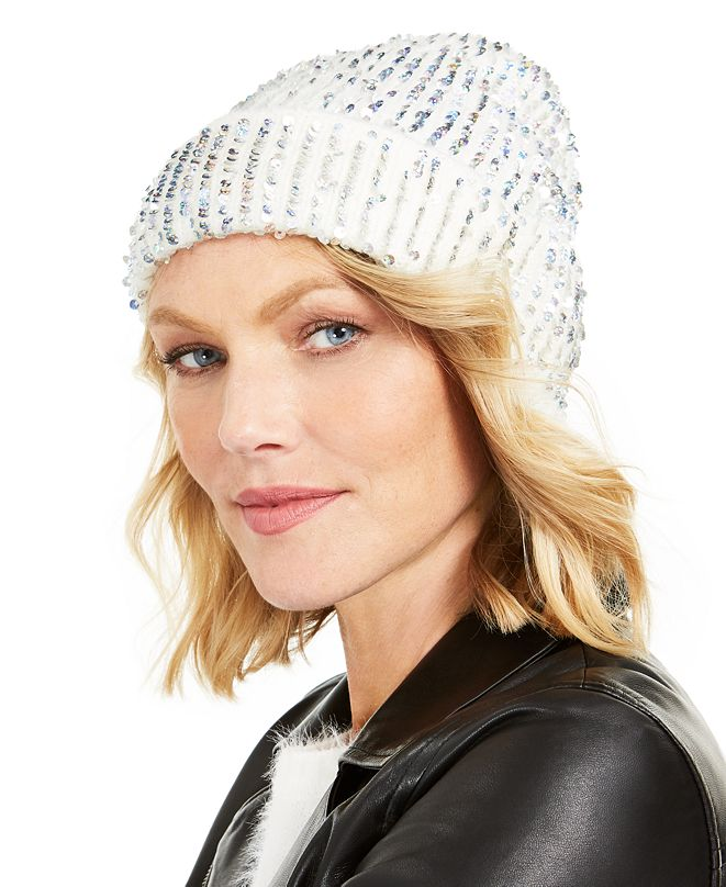 INC International Concepts INC Sequin Shine Beanie, Created for Macy's