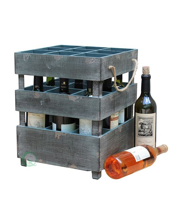 Gardenised Vintiquewise Antique Style Stackable Wooden Wine Crates