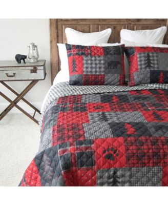 Red Forest Quilt Collection, King