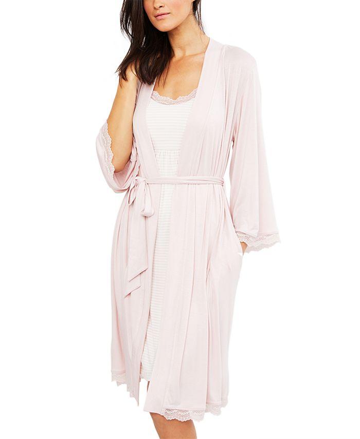A Pea in the Pod - Lace-Trim Nursing Nightgown