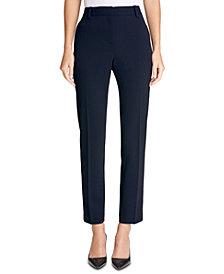 DKNY Stretch Crepe Essex Straight-Leg Dress Pants