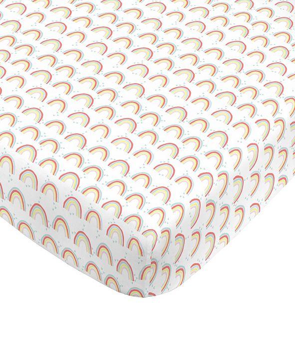 NoJo Rainbow Print Mini Crib Sheet
