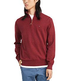 Tommy Hilfiger Men's Big & Tall Quarter-Zip Closure Pullover Sweater
