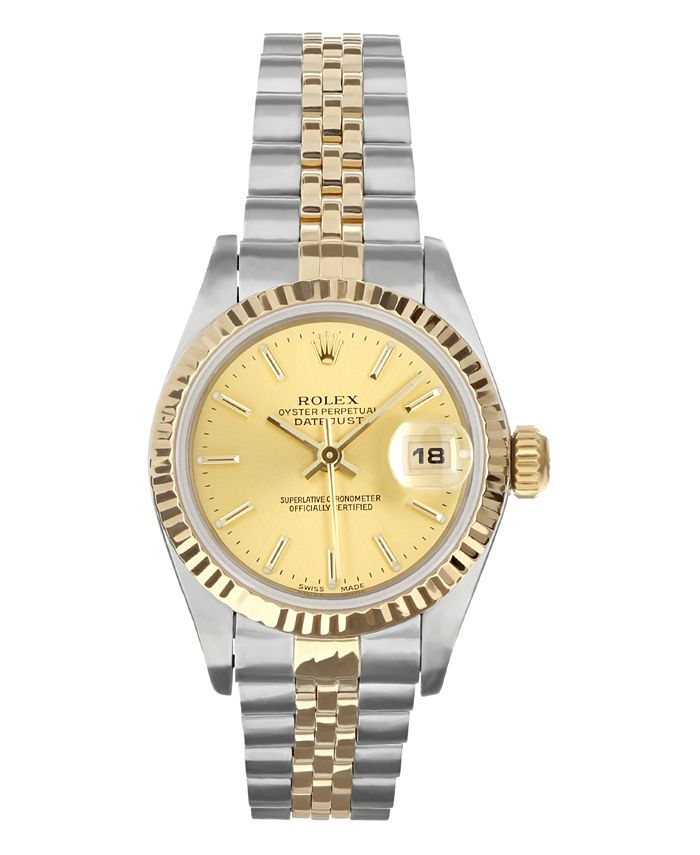 Pre-Owned Rolex - Ladies TT Datejust Jubilee With Champagne Dial
