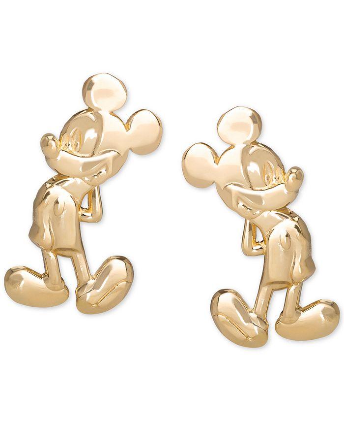Disney - Mickey Mouse Stud Earrings in 14k Gold